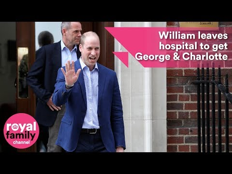 Prince William leaves hospital to get Prince George and Princess Charlotte to see royal baby.