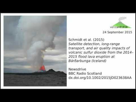Bárðarbunga eruption, Iceland, 2014-2015 sulphur dioxide study