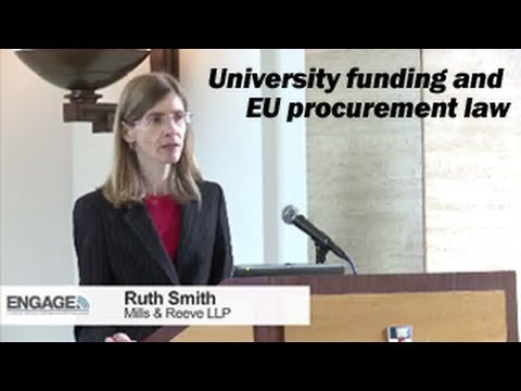 University funding and procurement legislation: Ruth Smith, Mills and Reeve