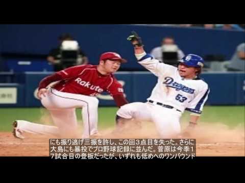 楽天・菅原 1イニング3暴投のプロ野球タイ記録 史上15人目 The News Today