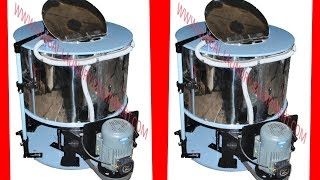 Industrial hydro extractor machine for laundry. (Hindi)