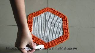 15 August Rangoli Designs Using fork and comb Independence day Rangoli by Shital Mahajan