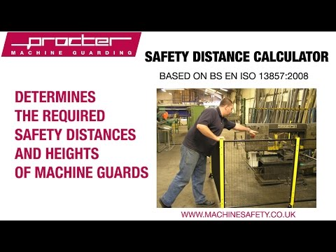 Safety Distance Calculator for Machine Safety