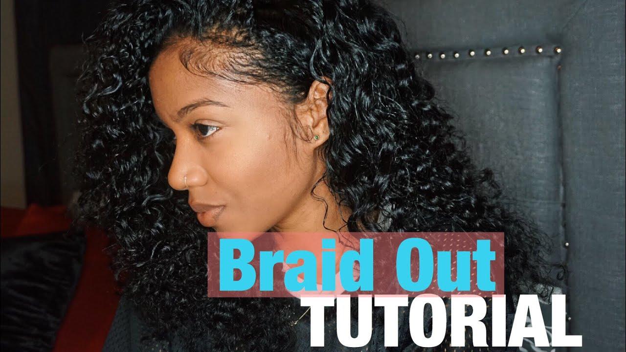 Braid Out On Natural Hair Cornrows Flat Braid Tutorial Youtube