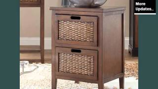 Wicker End Table With Drawer | Wicker Furniture Ideas