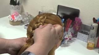 Видео урок №2  Французская коса с приплетами в низ.