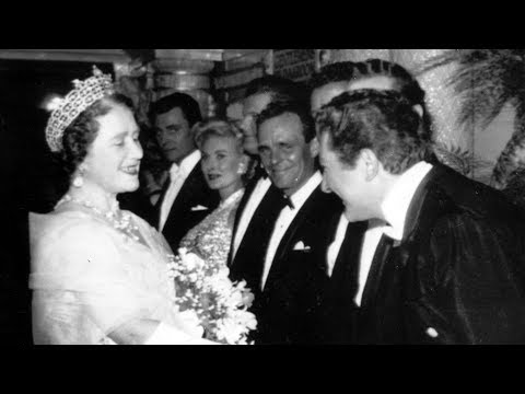 "Royal Variety show: The Queen arrives, Liberace gets a ""Royal smile"" (1960)"