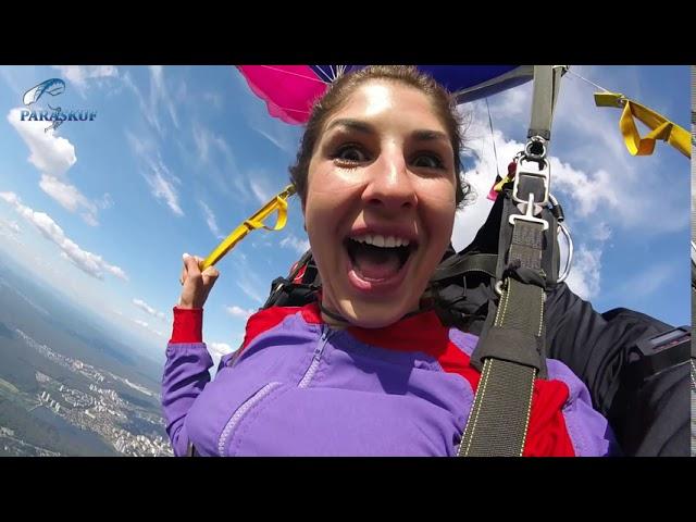 Прыжок с парашютом над Киевом