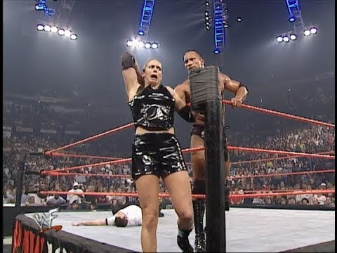 Download The Rock Vs Stephaine Macmahon & Test Handicap Tag Match 720p HD Raw Full Match
