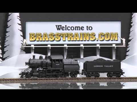 049887-HO Brass Model Train - Custom Brass LV Lehigh Valley 2-8-2 Camelback N-1 #240 - CUSTOM