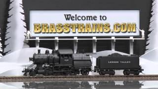 049887-HO Brass Model Train - Custom Brass LV Lehigh Valley 2-8-2 Camelback N-1 #240 - CUSTOM