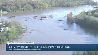 Gov.  Whitmer calls for investigation into mid-Michigan flooding