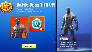 "SEASON 4 BATTLE PASS TIER 100 ""OMEGA"" SKIN UNLOCK! NEW Season 4 Battle Pass (Fortnite Battle Royale)"