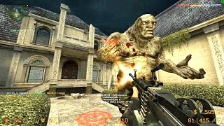 Counter Strike Source - Zombie mod Zombie Boss fight - Multiplayer Gameplay on chateau map