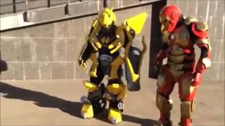 Настоящие роботы трансформеры на детский праздник