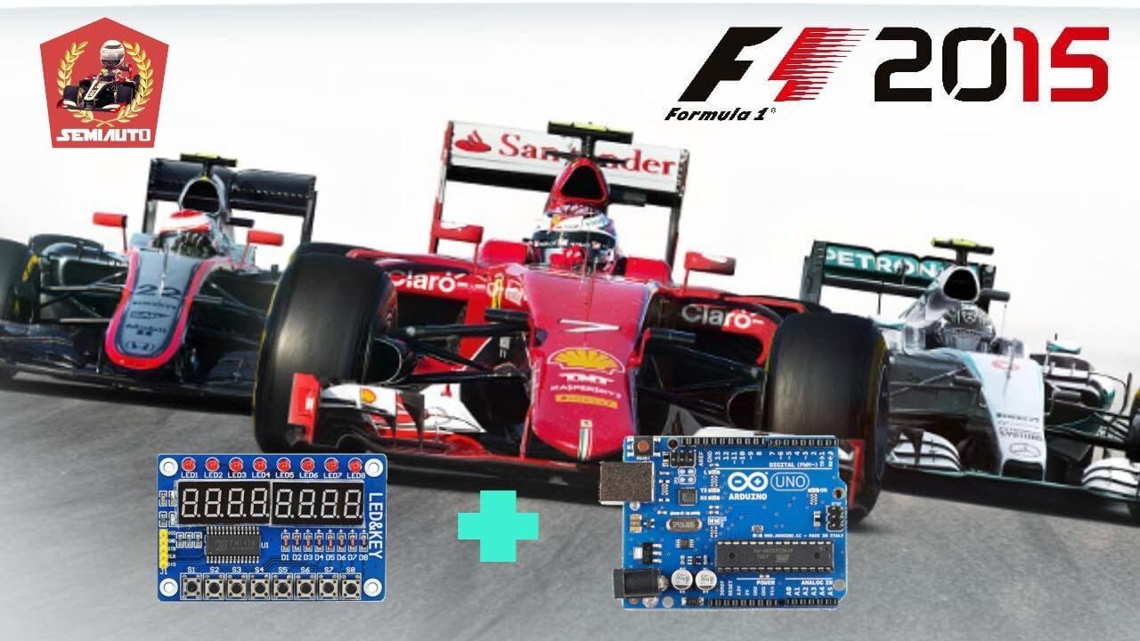 [F1 2015 - TEST] : Simhub Program to TM1638 + Arduino