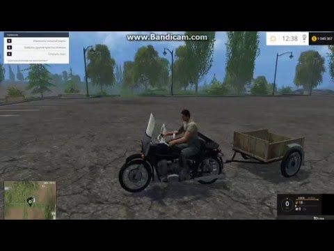 Урал с люлькой и тачкой для  Farming Simulator 2015