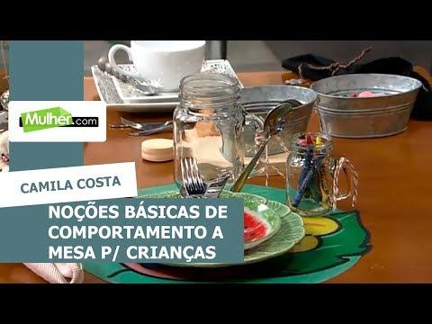 Noções básicas de comportamento à mesa para crianças - Camila Costa - 02072018