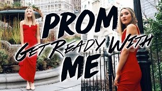 Get Ready With Me Prom 2017! Prom Hair, Makeup, & Outfit!