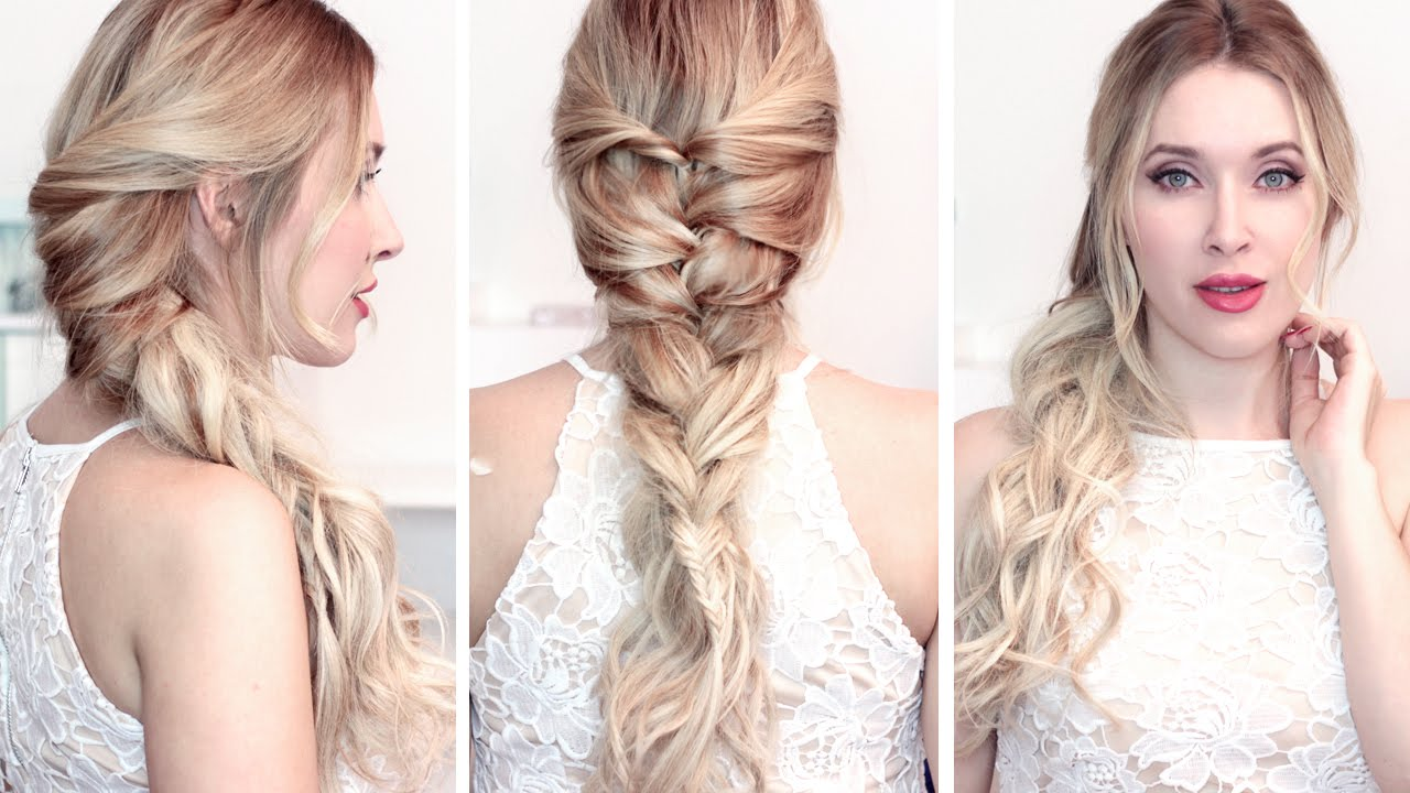 False Bridal Braid Hairstyle Tutorial Frisuren Für Lange