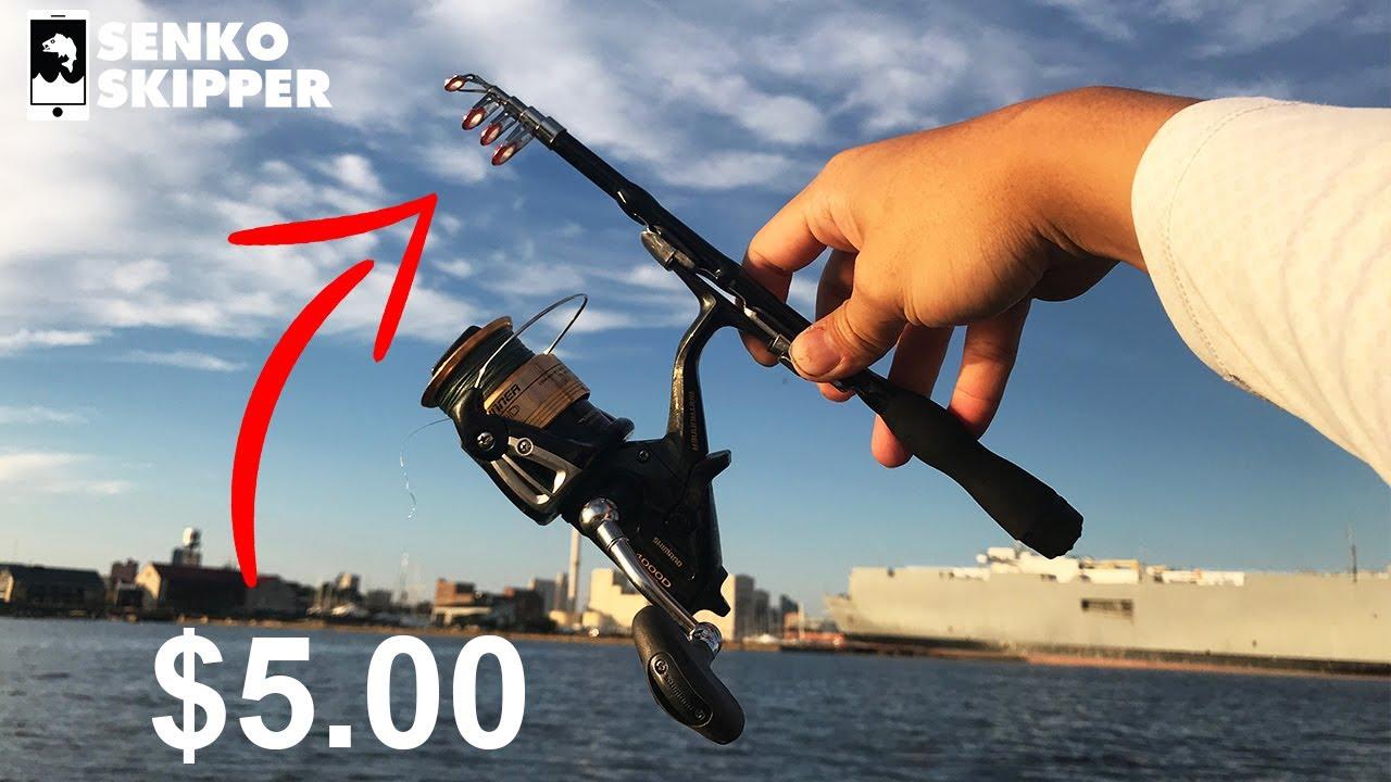 Mini Teleskop Angelrute Super Short Retractable Folding Pole Fishing Rod
