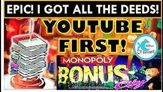 ★PERFECT PICKING & YOUTUBE 1st!★ EPIC WIN ★  MONOPOLY BONUS CITY Slot Machine