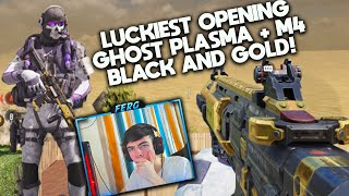 LUCKIEST CRATE OPENING EVER!! NEW GHOST PLASMA + M4 BLACK AND GOLD SKINS! COD Mobile