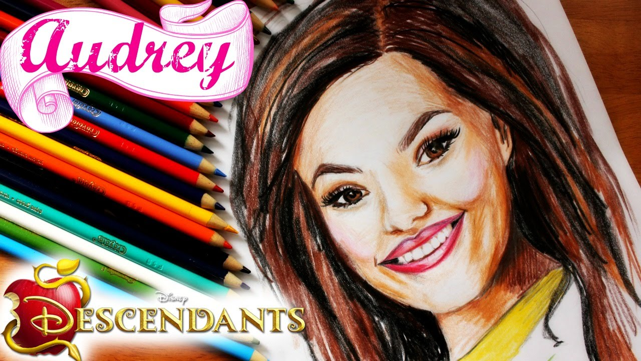 DISNEY DESCENDANTS Learn How to Draw AUDREY Speed Drawing