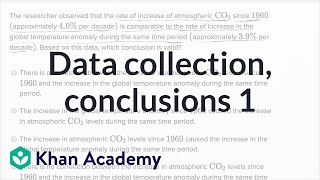 Data Collection And Conclusions � Basic Example | Math | New SAT | Khan Academy