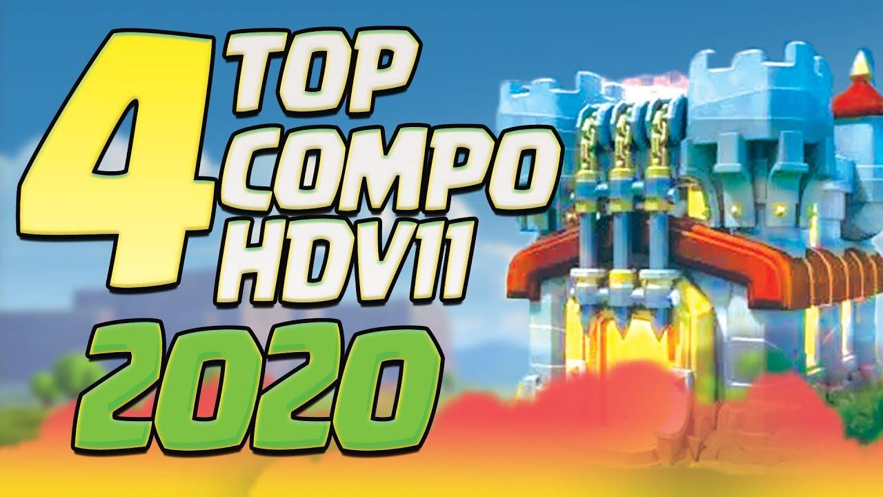 TOP 4 Meilleures Stratégie Attaques 3 Etoiles HDV11 en 2020 | Clash of Clans