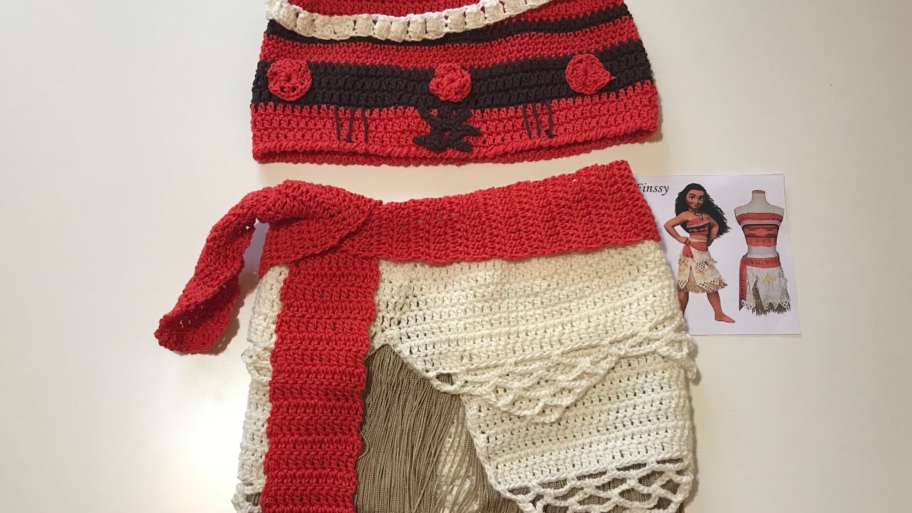 Moana Or Vaiana How To Make Her Dress Easy To Crochet