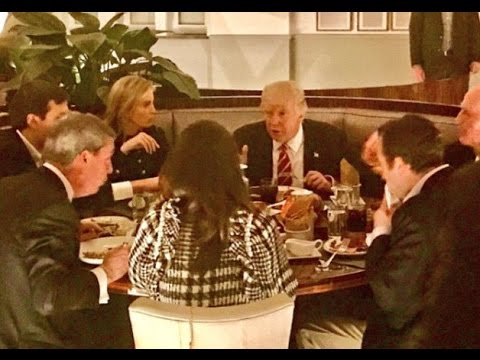 Trump spends the evening with Ivanka, Jared and UK politician Nigel Farage at the luxury DC.
