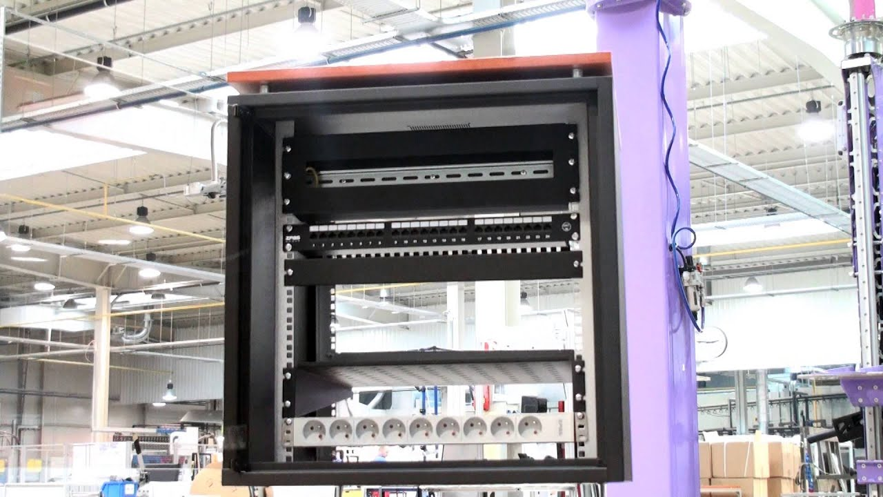 ZPAS SJB 19'' - network cabinet for office - YouTube