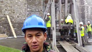 The Gurkhas and the medieval catapult at Dover Castle