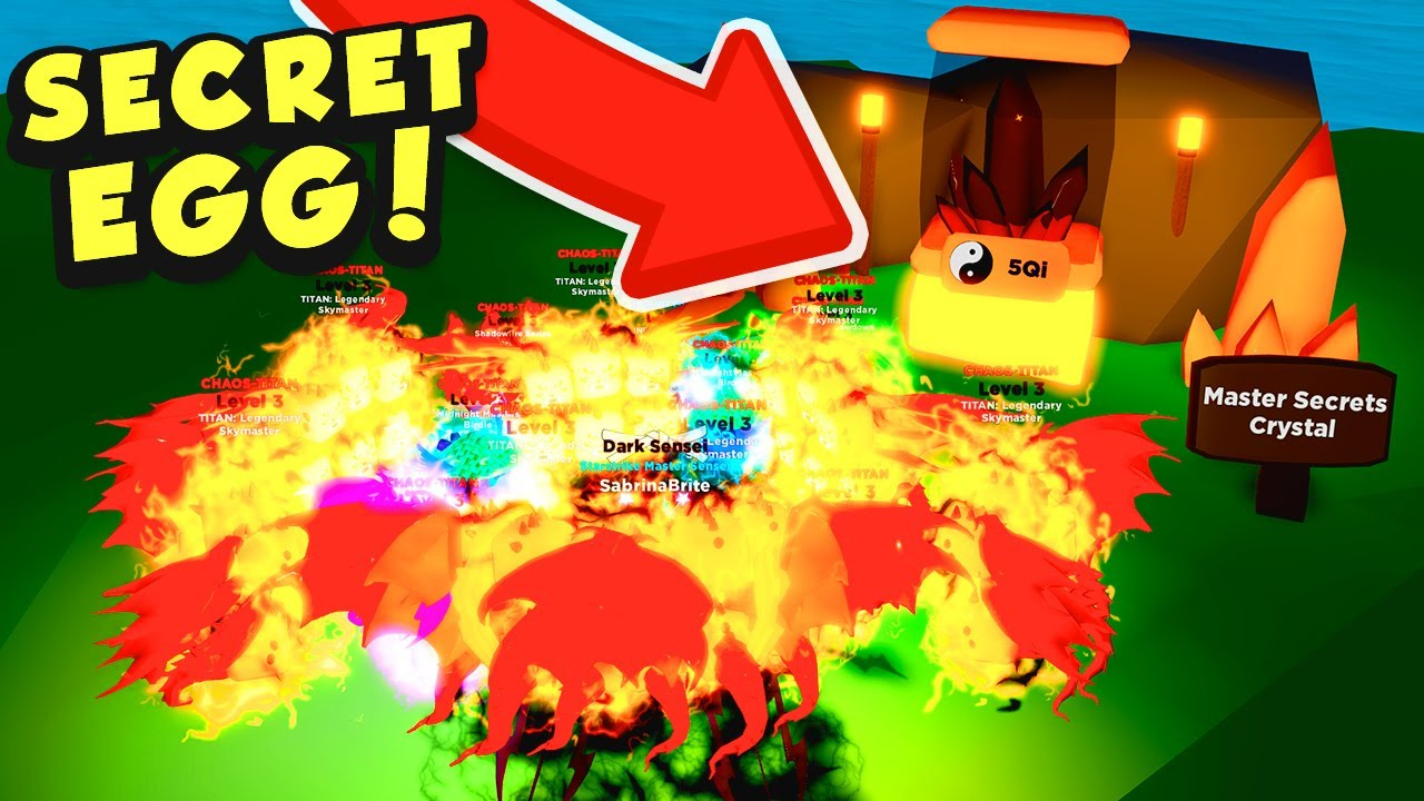 Getting CHAOS TITAN PETS and finding a SECRET CRYSTAL EGG in Roblox Ninja Legends!