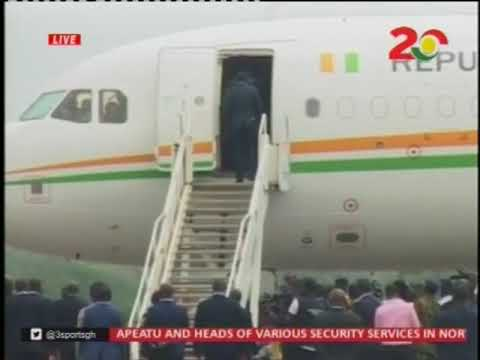 Al Hassan Ouattara arrives in Ghana