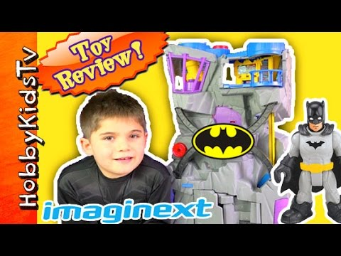 Batman Imaginext Batcave! Robin Batwing Batmobile Joker Toy Review [Box Open] HobbyKidsTV