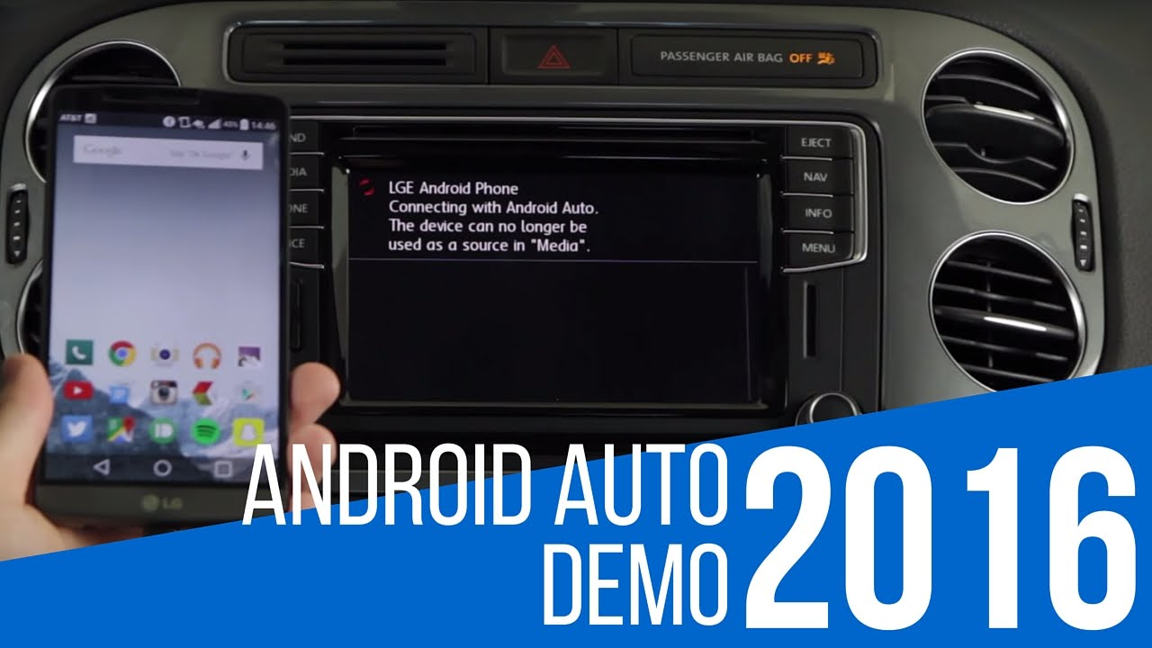 android auto demonstration in volkswagen youtube. Black Bedroom Furniture Sets. Home Design Ideas