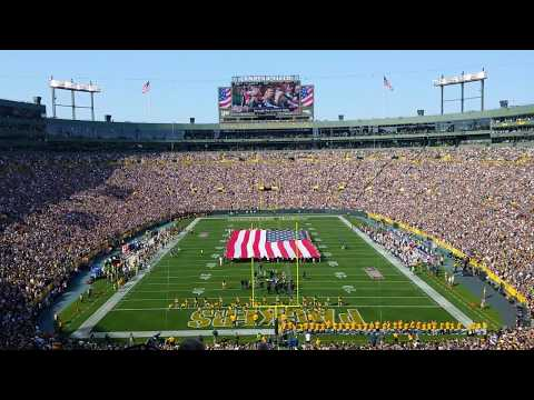 Lambeau Field flyover | Packers vs Seahawks | September 2017