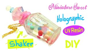 Perfume bottle shaker charm- UV resin- Miniature Sweet- crafts- DIY