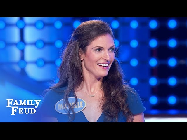 This is how much Michelle wants to pose nude! | Family Feud