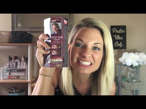 Testing Out Instant Smile! As Seen On TV! Reviewing Fake Teeth Instant Smile!
