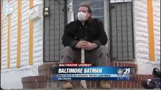 'Baltimore Batman' wards off looters