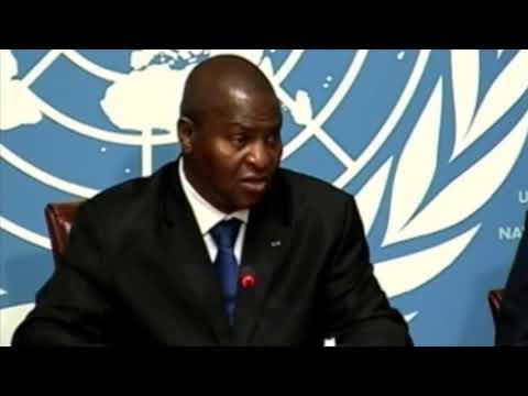 Conférence de presse du président Touadéra à Genève