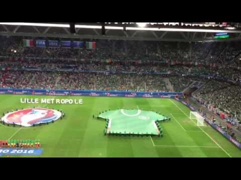 Amhrán na bhFiann - Italy v Ireland (Euro 2016)