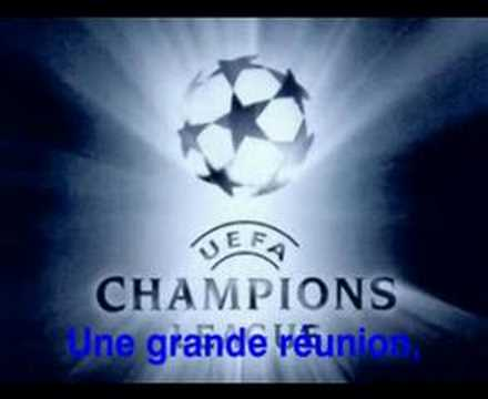 Anthem Champions League UEFA with lyrics