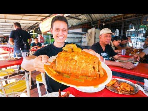 VIDEO: Big Fish Head Curry Tour - MALAYSIAN STREET FOOD in Kuala Lumpur, Malaysia!