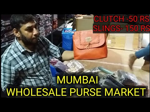 Wholesale Market of Ladies Purse & Clutches in Mumbai, Madanpura | Near City Center.