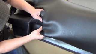Обтяжка панели каучуковым материалом 1 часть