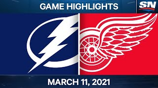 NHL Game Highlights   Lightning vs. Red Wings - Mar. 11, 2021